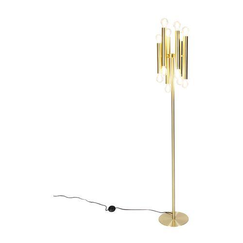 Qazqa - Vintage Stehlampe Gold 12-Licht-Facil