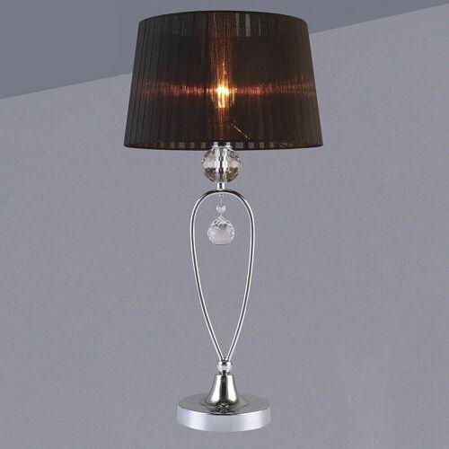 11-ITALUX Vivien Noir Kristall Schreibtischlampe