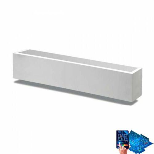 BELFIORE - 9010 Wandleuchte belfiore 9010 2423b 8w led 32cm kabelloser weißer gips