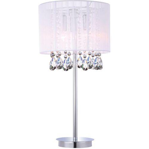 11-italux - Weiße Essenz Kristall Schreibtischlampe