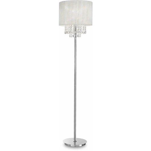 01-ideal Lux - Weiße Stehlampe OPERA Kristall 1 Glühbirne