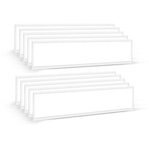 Auralum 10×60W LED Panel Hängeleuchte 120×30CM Deckenleuchte