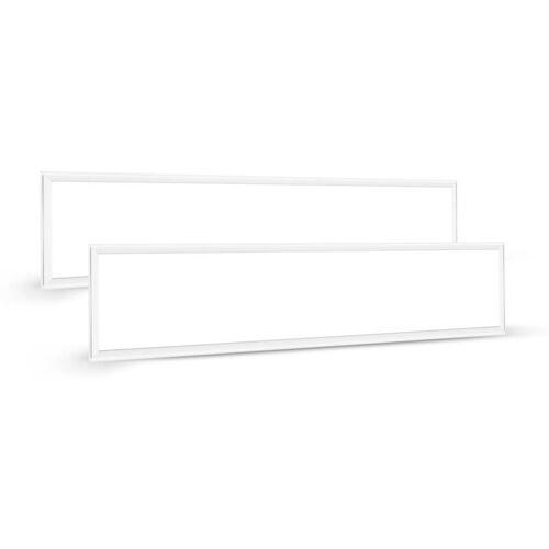 Auralum 2×60W 120×30CM LED Panel Hängeleuchte Deckenleuchte Deckenlampe