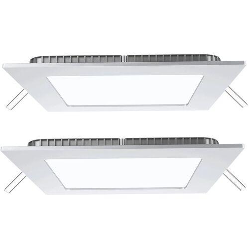 Etc-shop - 2er Set 18 Watt LED Einbau Leuchten Decken Alu Raster