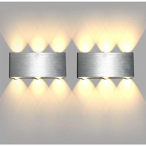 STOEX 2x Modernes LED Wandleuchte Up und Down Wandleuchte Einfach Wandleuchte