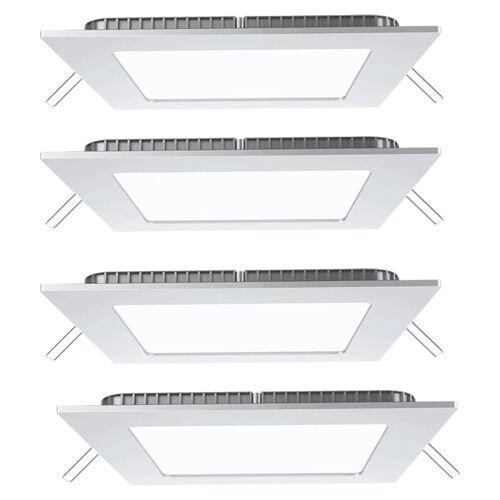 Etc-shop - 4er Set LED Einbau Decken Panel Raster Alu weiß Ess Zimmer