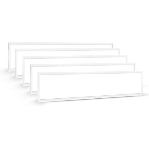 Auralum 5×60W 120×30CM LED Panel Hängeleuchte Deckenleuchte Deckenlampe