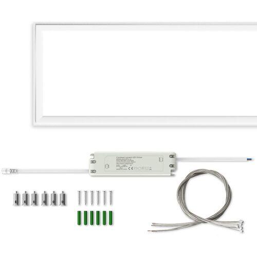 Auralum 60W LED Panel Hängeleuchte 120×30CM Deckenleuchte Deckenlampe
