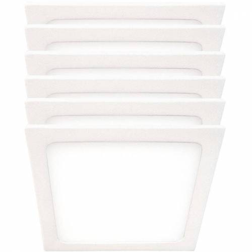 Etc-shop - 6er Set LED Aufbau Panel ALU Decken Strahler Lampen weiß
