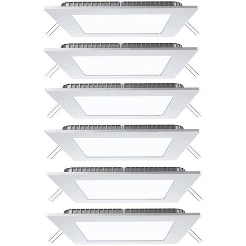 V-TAC 6er Set LED Raster Decken Einbau Lampen weiß Ess Zimmer Wand