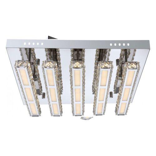 GLOBO Adrette 45W LED Decken Leuchte Lampe Treppenhaus Chrom MILEY 67051-45D