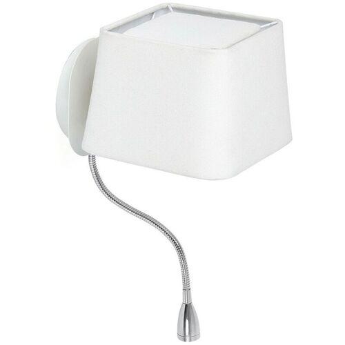 LOREFAR SWEET Weiße Wandlampe mit LED Leselampe