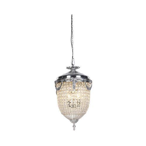 Qazqa - Art Deco Hängelampenkristall mit Silber 40 cm - Cesar