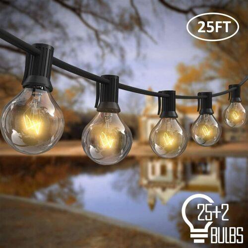 LANGRAY Außenlichterketten, 7,62 m 25-teilige G40-Glühlampen mit 2