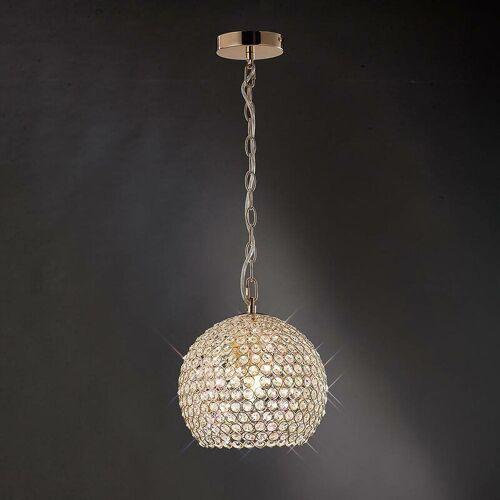 09-diyas - Ava Pendelleuchte 4 Glühbirnen Gold / Kristall
