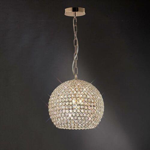 09-diyas - Ava Pendelleuchte 5 Glühbirnen Gold / Kristall