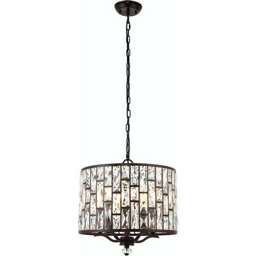 04-ENDON Belle Pendelleuchte, dunkle Bronze und Kristall, 5 Glühbirnen