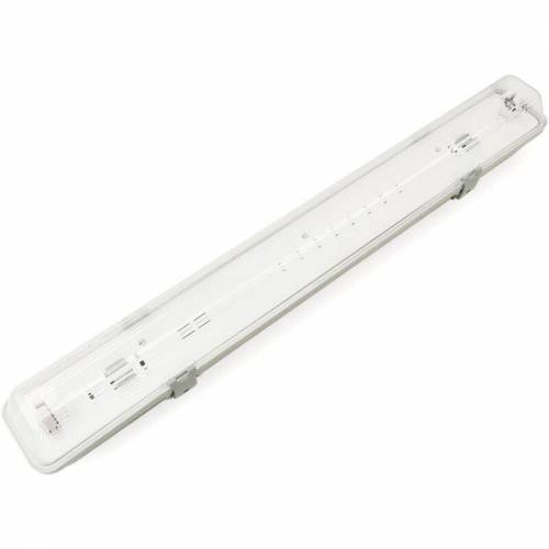 BeMatik - Wasserfester Schirm für LED-Röhre 1 x 600 mm mit Anschluss an