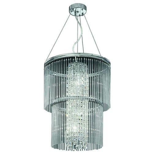 15-franklite - Charisma Kristall Chrom Anhänger 4 Lichter