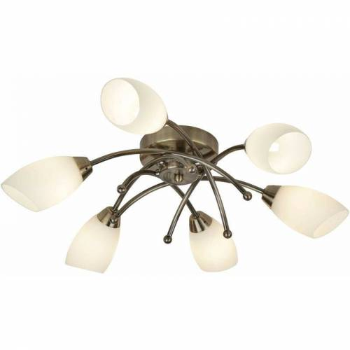 03-SEARCHLIGHT Decken Oper 6 Messinglampen mit Opalglas