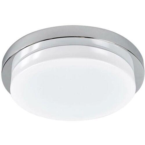 LINDBY Chromglänzende LED-Deckenleuchte Cordula, IP44