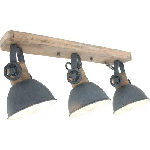 STEINHAUER Deckenleuchte Holz Grau 3x E27 Strahler Mexlite 2133GR - Steinhauer