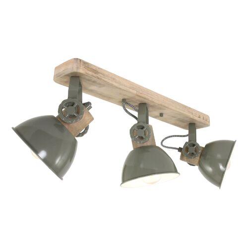 STEINHAUER Deckenleuchte Holz Grün 3x E27 Strahler Mexlite 2133G - Steinhauer