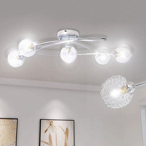 YOUTHUP Deckenleuchte mit Drahtgeflecht-Lampenschirmen 5 × G9 Glühlampen 76 x
