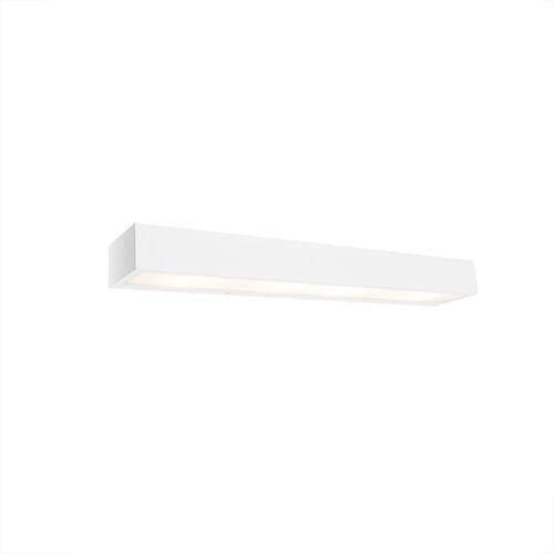 QAZQA Design längliche Wandleuchte weiß 60 cm - Houx