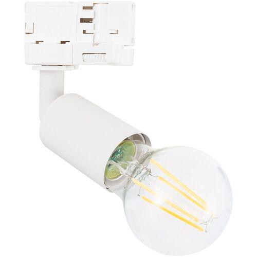 LEDKIA Strahler für E27 Glühbirne für 3-Phasenstromschienen Weiß - LEDKIA