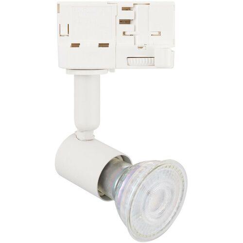 LEDKIA Strahler für GU10 Glühbirne für 3-Phasenstromschienen Weiß - LEDKIA