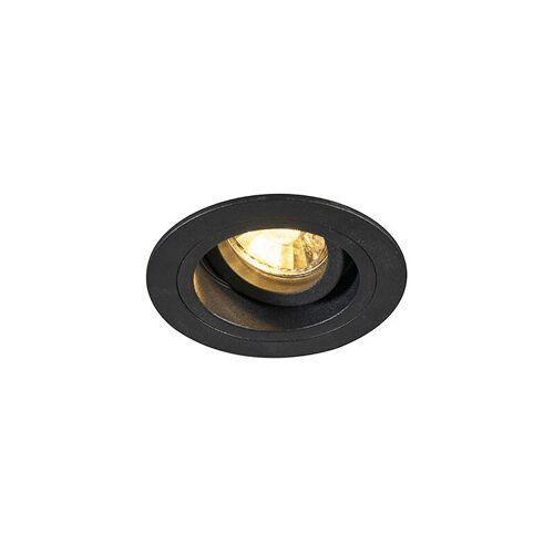 QAZQA Moderne Einbaustelle schwarz 9,2 cm drehbar und kippbar - Spannfutter