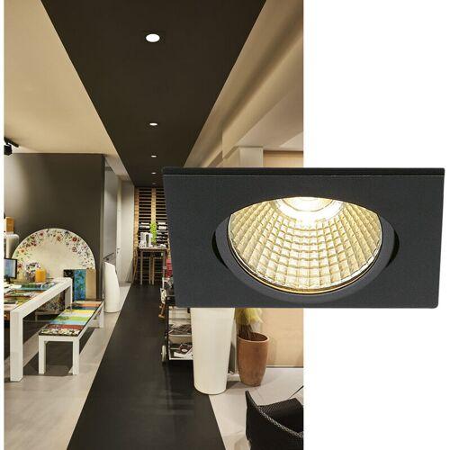 SLV Einflammiger LED-Einbaustrahler New Tria 68, Clipfedern, Hochvolt,