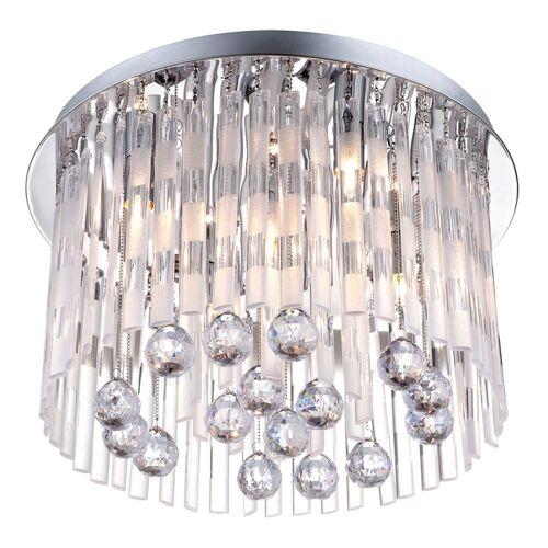 GLOBO Decken Leuchte Lüster Kronleuchter Behang Lampe Acryl Kristalle Jolina