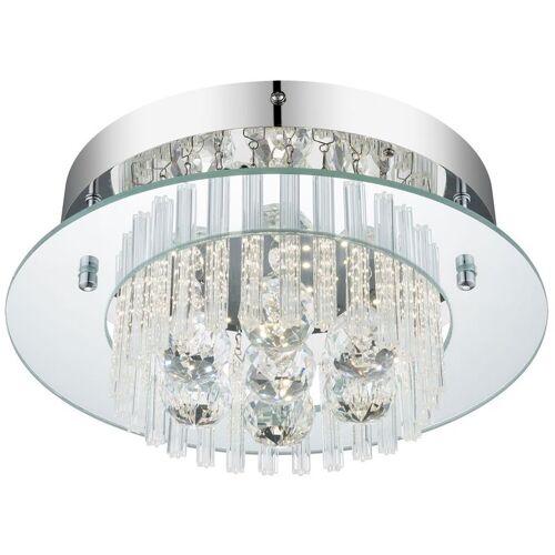 GLOBO LED 11 Watt Decken Lampe Hänge Leuchte Kristall Behang Beleuchtung