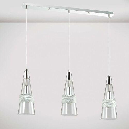 09-DIYAS Federung Emilia 3 Bulbs E14 Linear poliertes Chrom / Kristall