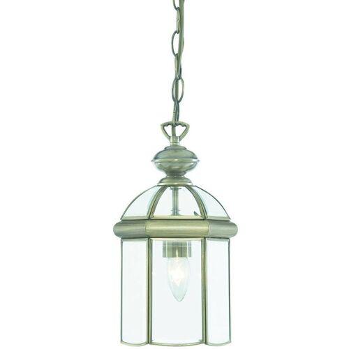 03-SEARCHLIGHT Hängelampe 18 cm Laternen, aus antikem Messing und Glas