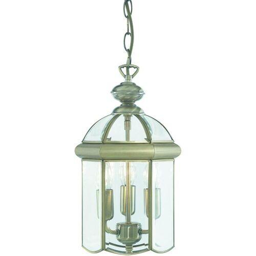 03-searchlight - Hängelampe 22 cm Laternen, aus antikem Messing und Glas