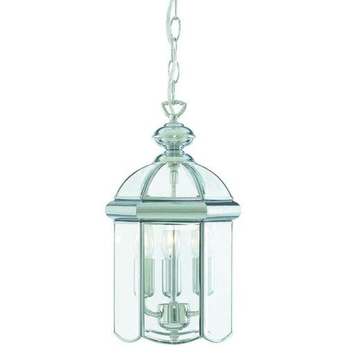 03-SEARCHLIGHT Hängelampe 22 cm Laternen, aus Chrom und Glas