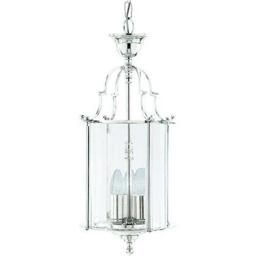 03-SEARCHLIGHT Hängelampe 25 cm Laternen, aus Chrom und Glas