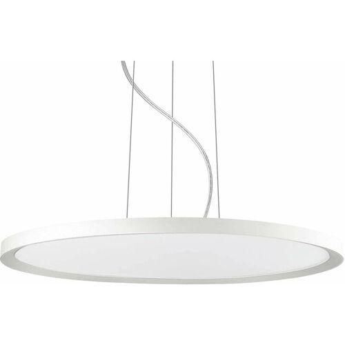 01-IDEAL LUX Weiße Pendelleuchte UFO 250 Glühbirnen