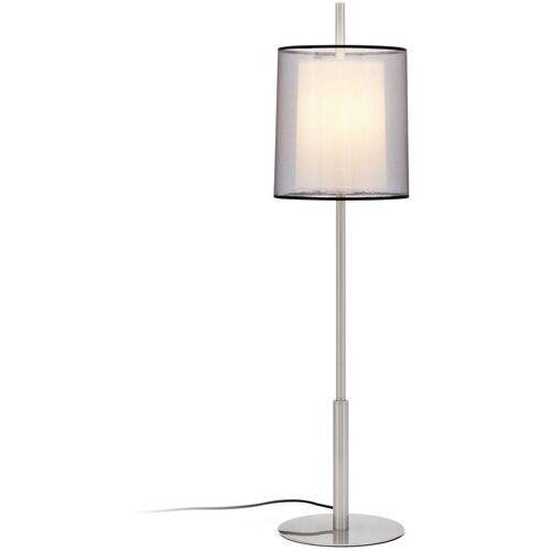 FARO Saba matt Nickel Tischlampe 1 Glühbirne