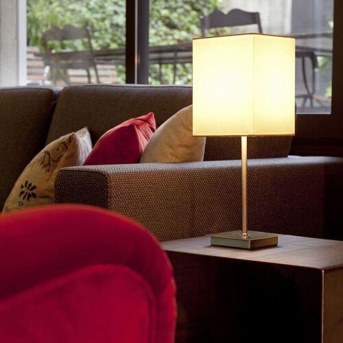 FARO 08-faro - Thana weiße Tischlampe 1 Glühbirne