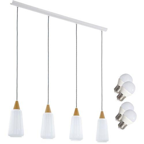 ETC-SHOP Esstisch Hänge Leuchte Beleuchtung Pendel Lampe Glas opal im Set
