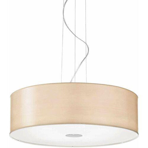 01-IDEAL LUX HOLZ Holz Pendelleuchte 5 Glühbirnen
