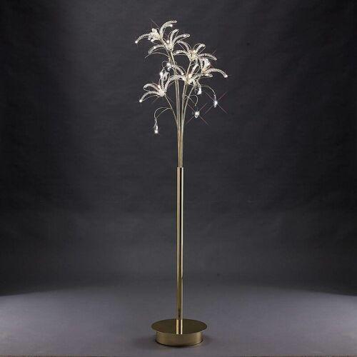 09-DIYAS Kenzo Stehlampe 6 Glühbirnen Gold / Kristall