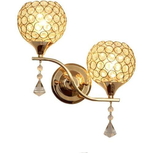 STOEX Kreative Doppelköpfe Wandleuchte Kristall Wandlampe Moderne