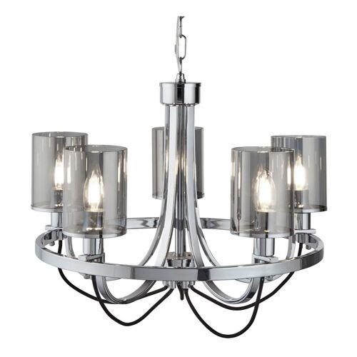 SEARCHLIGHT Pendel Lampe Kronleuchter Schlaf Zimmer Glas Hänge Decken Leuchte