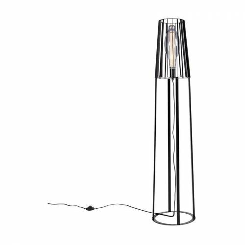 QAZQA Moderne Stehlampe schwarz - Wieza - QAZQA