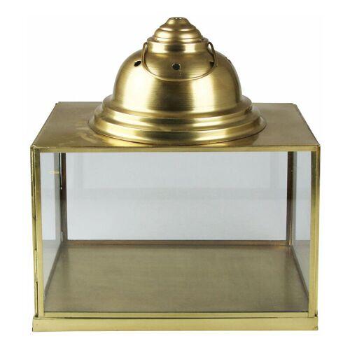 PFLANZEN KÖLLE Laterne, gold, Metall, Glas, Höhe 45 cm